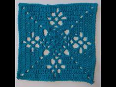 Victorian Lattice Square Crochet Tutorial CAL Crochet along - YouTube