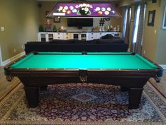 Brunswick Glenwood With Tapered Legs Pool Table, Installed By Everything  Billiards, NC. Www