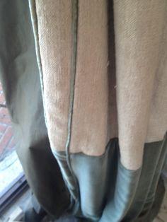 Looks like linen & velvet. Beautiful!