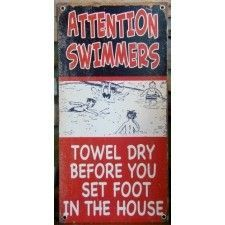 Our Pool Rules metal sign - Google Search