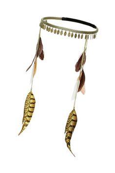 Mini Disc Feather Head Band, Topshop