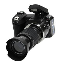 External Flash: No Recording Format: Picture: JPEG Video: AVI Audio:WAV Brand Name: PROTAX Image Resolution (Video): HD (1280x720) Power Mode: Lithium Battery Viewfinder Type: Optical Memory Card Type
