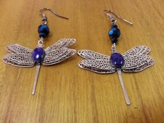 Check out this item in my Etsy shop https://www.etsy.com/listing/288827537/cobalt-blue-dragonfly-earrings-cobalt