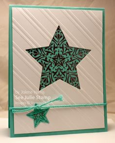 See Julie Stamp - Julie Wadlinger, Stampin' Up! Demonstrator : Swap: Cards in the Mail - Bright and Beautiful