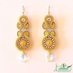 Soutache Earrings OOAK Swarovski Crystal by DILETTANTEsoutache, $150.00
