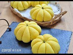 萬聖節南瓜造型麵包。Halloween pumpkin bread - YouTube