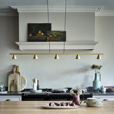 Quintet pendant light in brushed gold aluminium Pendant Lights