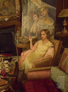 """Painter's Progress"" Alicia Vikander by Annie Leibovitz for Vogue US October 2015"