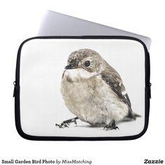 Small Garden Bird Photo Laptop Sleeve