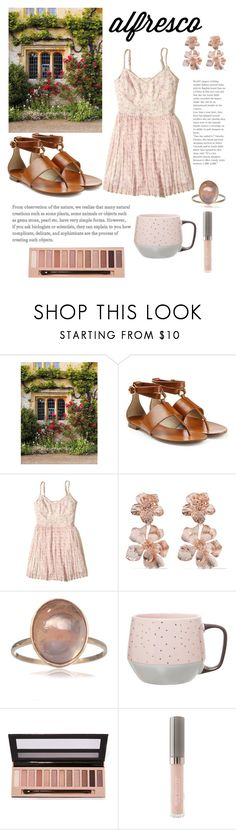 """""""A breakfast in the garden"""" by martina-b33 ❤ liked on Polyvore featuring Michael Kors, Hollister Co., Oscar de la Renta, Clay Art, L.A. Girl and Juice Beauty"""