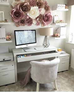 58 baraga home office desk chair 2 Cozy Home Office, Home Office Space, Home Office Desks, Office Decor, Room Ideas Bedroom, Bedroom Decor, Whimsical Bedroom, Home Room Design, My New Room