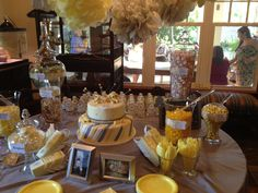 Grey and Yellow Candy Buffet