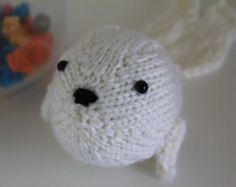 New Handmade White Knitted Soft Baby Fur Seal Children's Toy Nautical Decor Nursery Decor Seal Amigurumi Acrylic Merino Wool - Edit Listing - Etsy