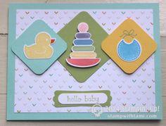 stampin up something for baby card - stamp set