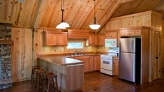 Barn Home Great Plains Western Horse Barn Home project by Sand Creek Post & Beam. View this gallery for ideas on your next dream barn. Pole Barn House Plans, Pole Barn Homes, Pole Barns, Cabin Plans, Barn Loft Apartment, Apartment Ideas, Barn With Living Quarters, Barn House Design, Loft Kitchen