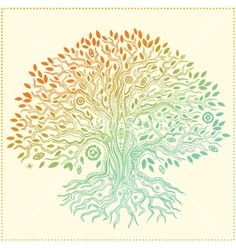 Beautiful vintage hand drawn tree of life vector by transia on VectorStock®
