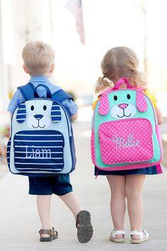 8cbd935d6193 Personalized Lightweight Puppy Preschool Backpacks