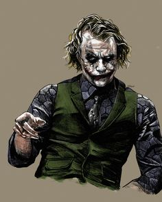 [Fan Art] Last time I did Joaquin as a Joker now I had to pay respect to one and only Heath Ledger. I hope that u like this on too! Der Joker, Joker Heath, Joker Art, Heath Legder, Joker Batman, Batman Art, Batman Robin, Heath Ledger Tattoo, Joker Ledger