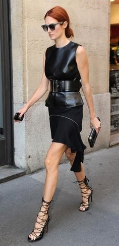 Fashion Month Inspiration: Never doubt the power of head-to-toe black a la TTH!