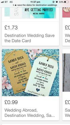 Save the date destination wedding