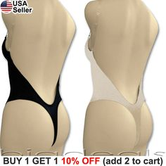 0dc6980b27 Details about Backless Full Body Shaper Thong Convertible Seamless Low Back  Max Cleavage 9001
