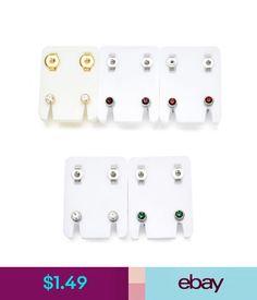 Earrings 1 Pair Stainless Steel Crystal Ear Piercing Studex Earring Piercing Body Jewelry #ebay #Fashion