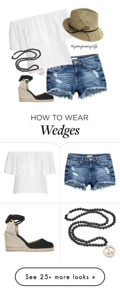 """""""Summer Days"""" by yummymummystyle on Polyvore featuring Rebecca Minkoff, Castañer, Justine Hats and Helix & Felix"""