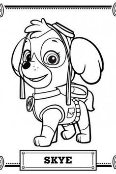 Patrulla Canina personajes para colorear