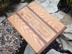 Handcrafted Wood Cribbage Table Side Table by TheGrainExpression