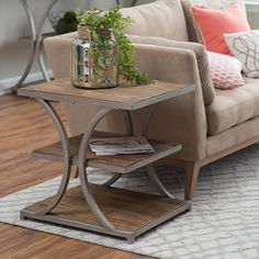 Superior Belham Living Edison Reclaimed Wood Side Table   From Hayneedle.com