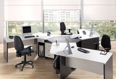 Simple Office Chair And Table with wooden floor