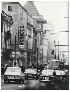 Bucuresti, b-dul Gh. Gheorghiu Dej, anii (b-dul Elisabeta) [foto: Hedy Loffler] Bucharest Romania, Nostalgia, Motorcycles, Street View, Memories, Cars, Architecture, Bucharest, Cousins