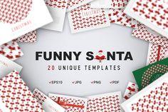Funny Santa Concept by Blogoodf on @creativemarket