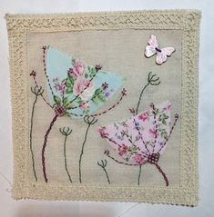 Freehand Machine Embroidery, Free Motion Embroidery, Free Machine Embroidery, Embroidery Applique, Embroidery Stitches, Embroidery Designs, Fabric Cards, Fabric Postcards, Quilting