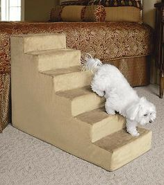 Our sturdy Animal Matters Indoor Pet Stairs help your dogs or cats reach new heights.