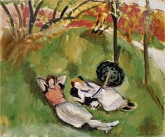 Two Figures Reclining in a Landscape  - Henri Matisse