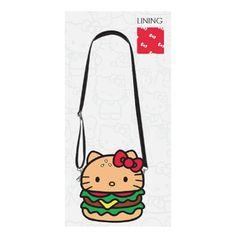 Hello Kitty Hamburger Crossbody Purse - Entertainment Earth a88aa9aac06d8
