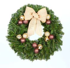 from real christmas trees delivered 24 in cocoa chic real live fraser fir christmas wreath fresh