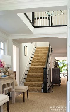Design Chic: House Tour: M.Frederick Interiors, sisal carpet in entry, lots of texture