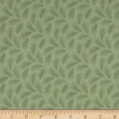 """Downton Abbey Lady Edith Small Branches Green from @fabricdotcom  Licensed by Carnival Film & Television Ltd. to Andover Fabrics, this cotton print fabric is inspired by the TV series, """"Downton Abbey."""" It is perfect for quilting, apparel, crafts, and home decor items."""