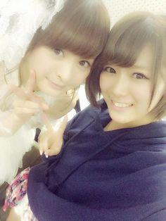 山内鈴蘭 @suzuranchan1208 この間、小木曽汐莉さんと 写メ撮ってもらいました *\(^o^)/*❤️  本当に可愛くて小さくて、憧れです♪ 幸せだぁ〜( ´ ▽ ` )ノ