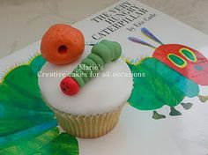 Very Hungry Caterpillar Cupcake #birthday #party