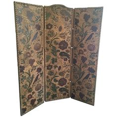 Spanish Tooled Leather Screen | 1stdibs.com