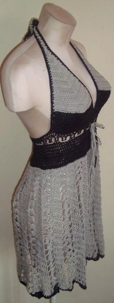 Handmade Crochet Black and Grey by essentialessences on Etsy, $100.00