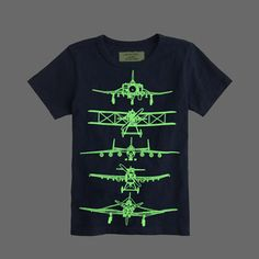 glow-in-the-dark planes tee