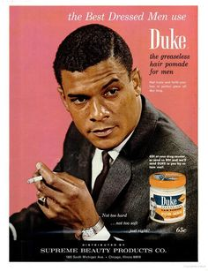 Duke Pomade ad Maher Mens pomade, Handsome men in suits mens retro hair products - Retro Products Mens Pomade, Hair Pomade, Handsome Men In Suits, Mens Suits, Handsome Man, Old Advertisements, Retro Advertising, Black Men Hairstyles, Retro Hairstyles