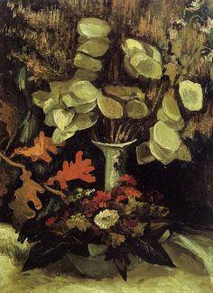 Vase with Honesty by Vincent van Gogh #art