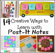Many Creative Ways to Learn with Post It Notes-- Literacy, Math, Art, etc!!