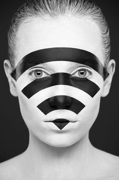 Beautiful Black & White Face Paintings