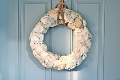 Oyster Shell Wreath from Harbor Homestead & Co.